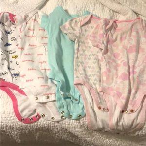 5 0-3 Month Baby Girl Onesies
